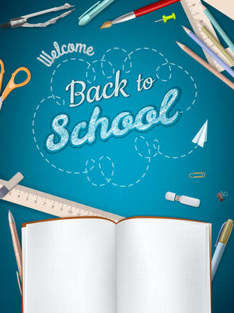 Back to School background. Stock fotó - 40346748