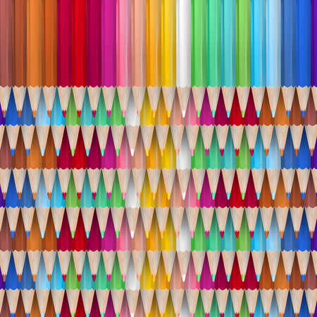 colored pencil: Close-up of a collection of colored pencil crayons.
