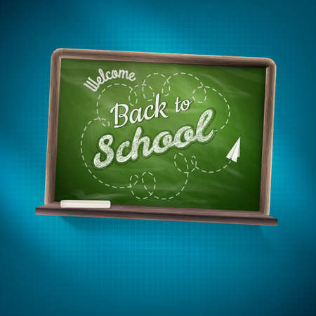 back to school: Back to school.    Illustration