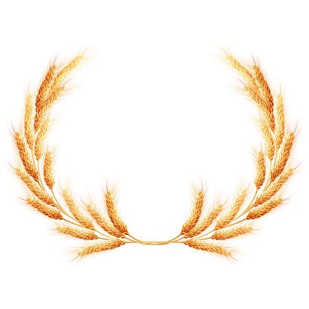 wreath of wheat: Wheat ears wreath.