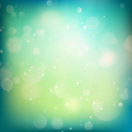 bokeh: Blue and green defocused lights background. abstract bokeh lights. Illustration