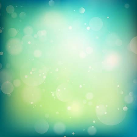 modrý: Modré a zelené rozostření světla na pozadí. abstraktní bokeh světla. Ilustrace