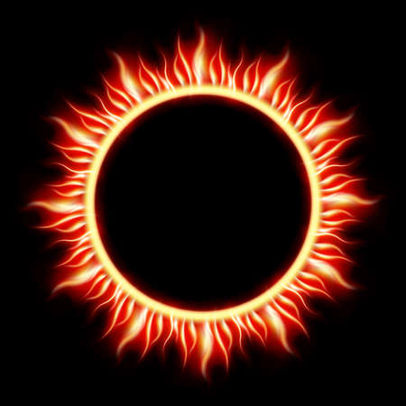 eclipse: Solar Eclipse template background Illustration