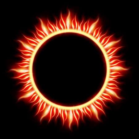 Solar Eclipse template background Illustration