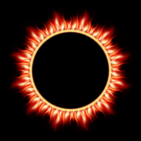 prominence: Abstract burning star circle view background