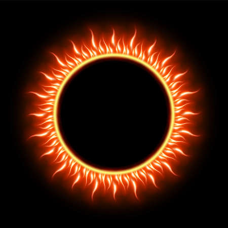 prominence: Solar Eclipse template background Stock Photo