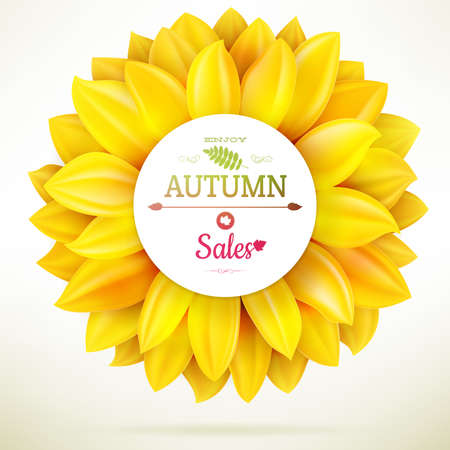 Tournesol automne vente. Illustration