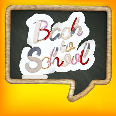 Back to school sign.     Vector