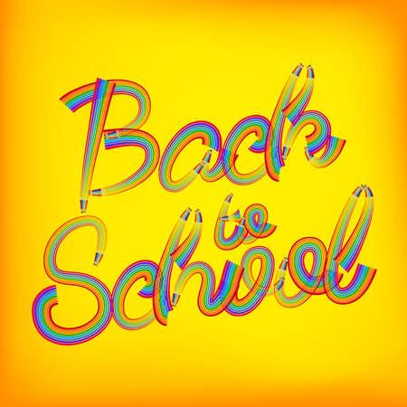 semester: Back to school pencil concept.   Illustration