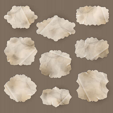 Old Paper frame - variety of scraps for your layouts or scrapbooking projects. EPS 10 vector file included Vector