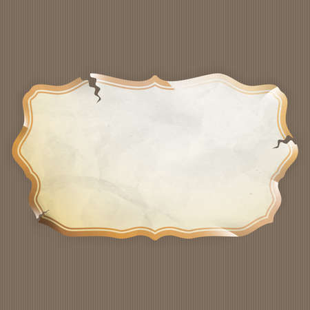 Old Paper frame - variety of scraps for your layouts or scrapbooking projects.  Vector