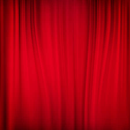 silks: Close view of a red curtain. EPS 10 vector file included