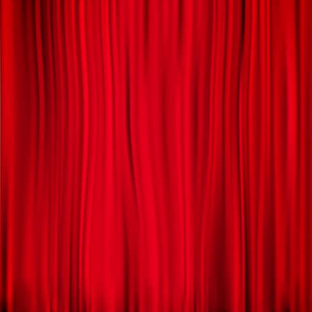 entertainment event: Red curtain on theater or cinema stags. EPS 10 vector file included