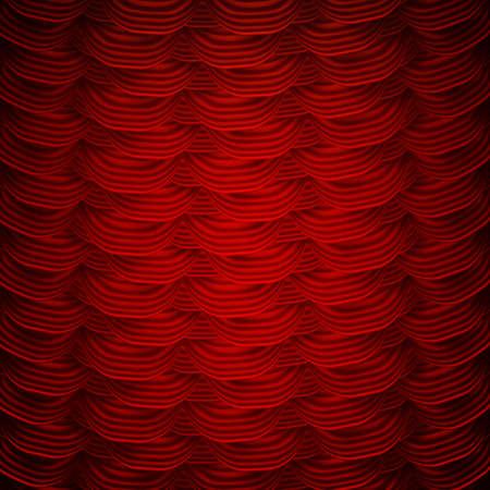 eleganz: Rote Vorhänge auf Theaterbühne.