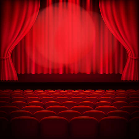 blockbuster: Red curtain template. EPS 10 vector file included