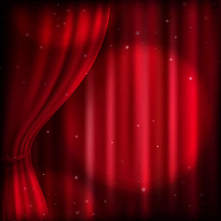 curtain background: Background with red curtain and spot light. EPS 10 vector file included