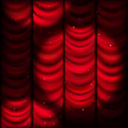 luz focal: Red curtain with spot light. EPS 10 vector file included Vectores
