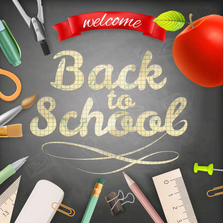 teaching crayons: Welcome back to school. EPS 10 vector file included
