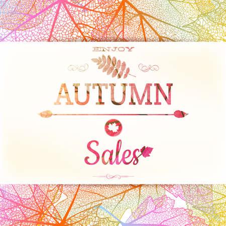 Autumn: Fondo de la venta de otoño. Archivo EPS 10 vector incluido