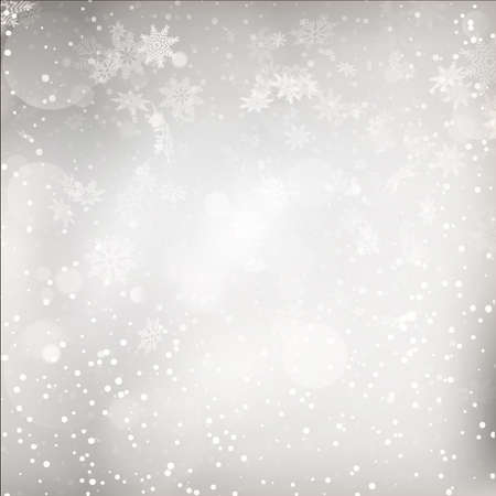 silver background: Christmas Lights on grey background. EPS 10 vector file included