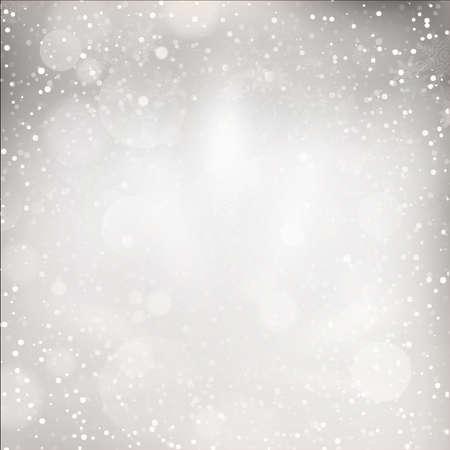 Kerstverlichting op een grijze achtergrond. EPS-10 vector-bestand opgenomen Stock Illustratie