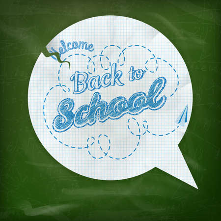 studying classroom: Back to school - blackboard education concept still life. EPS 10 vector file included