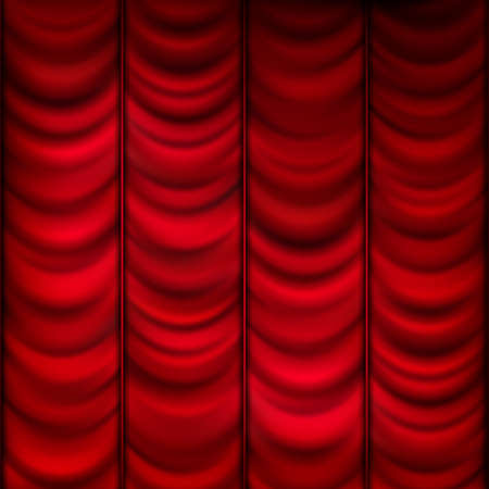 curtain background: Red curtain background template. EPS 10 vector file included Illustration