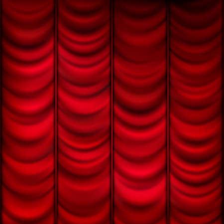eleganz: Roten Vorhang Hintergrund Vorlage. EPS 10 Vektor-Datei enthalten Illustration
