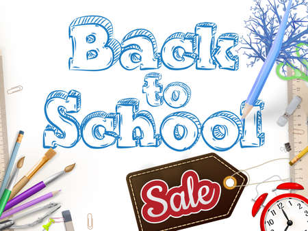 flier: Back to School marketing . For greeting card, ad, promotion, poster, flier, blog, article, social media. Illustration