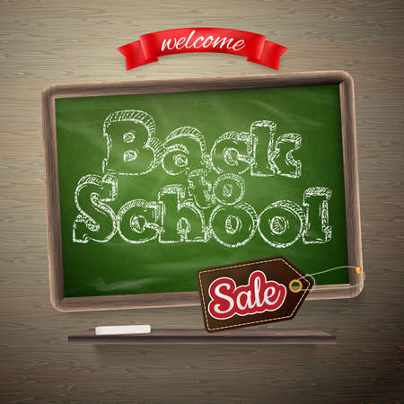 Back to School Sale template. EPS 10 vector file included