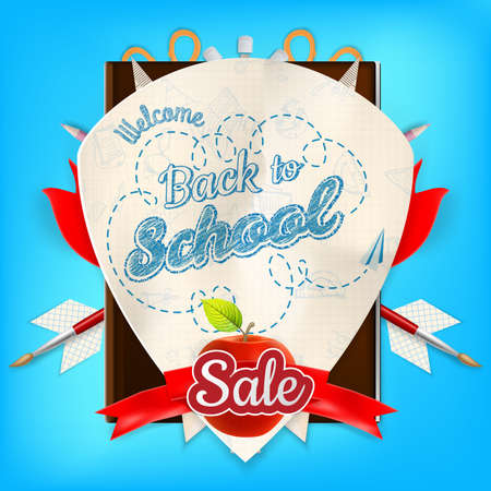 article marketing: Back to School marketing background. Greeting card, poster, flier, blog, article, social media. EPS 10 vector file included Illustration