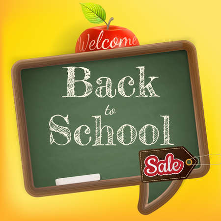 secondary colors: Back to school Sale. EPS 10 vector file included Illustration