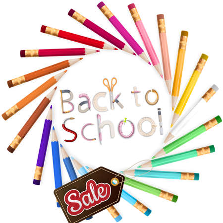 august: Back to school Sale. EPS 10 vector file included Illustration
