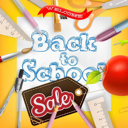 special education: Back to School marketing background. Greeting card, poster, flier, blog, article, social media.vector file included