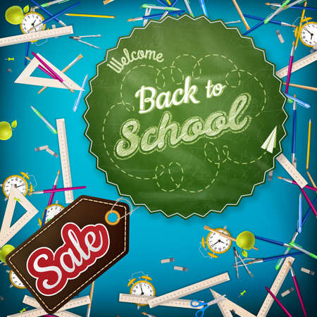 semester: Back to School Sale template. EPS 10 vector file included