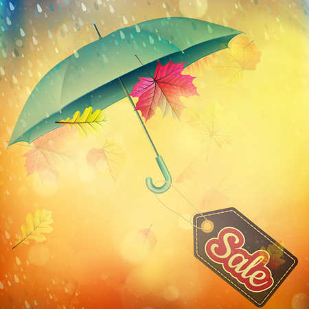the abstract background: Autumn sales banner.   Illustration