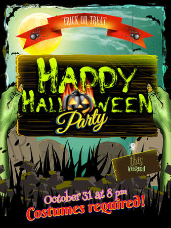 halloween poster: Halloween poster background. EPS 10 vector file included