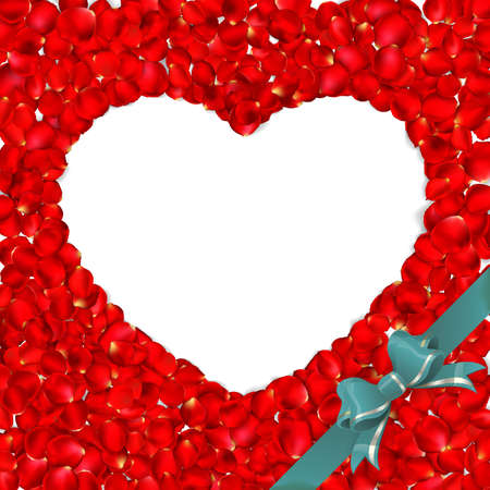 rose petals: Heart of red rose petals isolated on white background. EPS 10 vector file included Illustration
