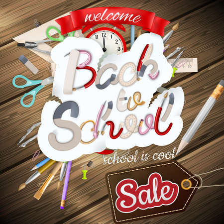 school kids: Back to School marketing background. For greeting card, ad, promotion, poster, flier, blog, article, social media. EPS 10 vector file included