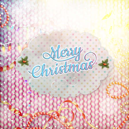 dec  25: Vintage Christmas Card. EPS 10 vector file included