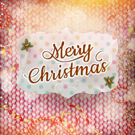 vintage card: Vintage Christmas Card. EPS 10 vector file included