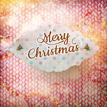 forties: Vintage Christmas Card. EPS 10 vector file included