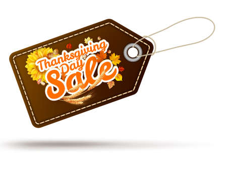 Thanksgiving Day sale headline template. EPS 10 vector file included