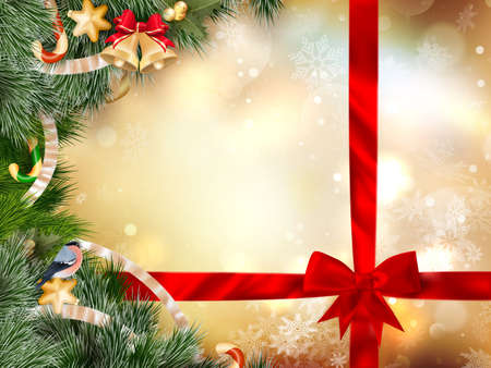 jubilant: Christmas Tree Decoration background. EPS 10 vector file included Illustration