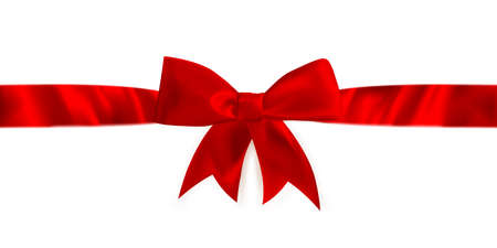 gift ribbon: Red gift bow and ribbon. EPS 10 vector file included