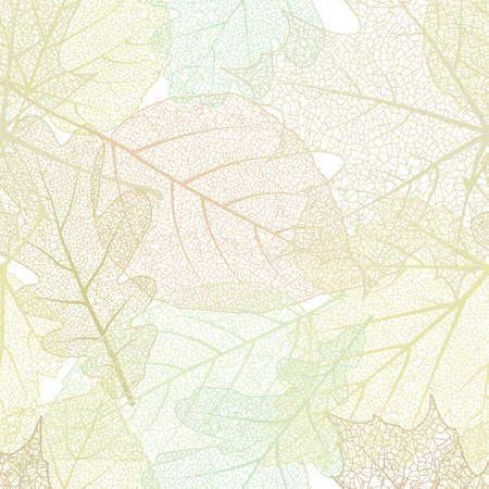 macro leaf: Detailed leaves seamless background. EPS 10 vector file included