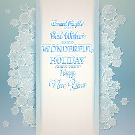 winter background: Winter holiday background with space for text. EPS 10 vector file included Illustration