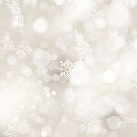 greetings from: Elegant Christmas background with snowflakes and place for text.