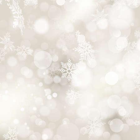 elegante: Fundo de Natal elegante com flocos de neve e lugar para o texto. Ilustração