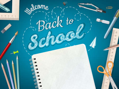 welcome symbol: Back to School background. EPS 10 vector file included